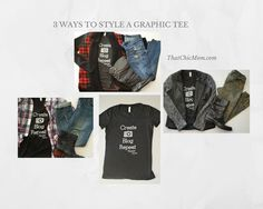 3 ways to Style A Graphic Tee, take the graphic tee to a whole new level of style with these 3 easy outfit ideas.
