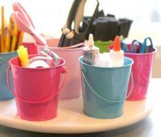 MOM Tip: Make a Lazy Susan Art Supply Organizer #247moms