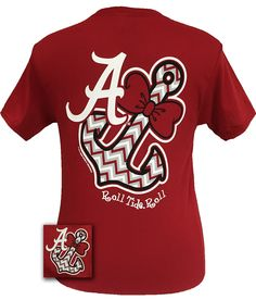 New Alabama Crimson Tide Chevron Anchor Bright T Shirt | SimplyCuteTees