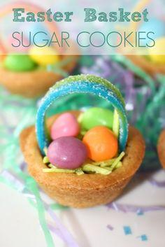 Easter Basket Sugar Cookies - an easy Easter treat!