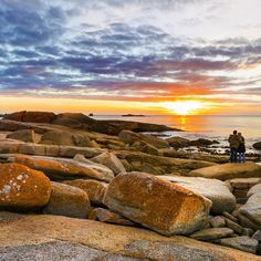 Sunrise at Bicheno on Tasmania's east coast. Credit: Sam Nahata