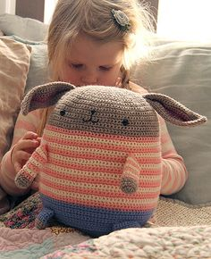 Here is a yarn pack that also includes a few extras you will need to make the GIRL version of my Honey Bunny Crocheted Softie. Packaged all together, we'll ship