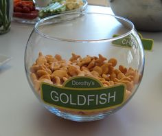 Seasame Street Birthday - Dorothy's Goldfish This is something i got to do.. so cute