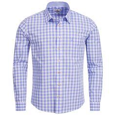 Trachtenhemd Slim Fit in Hellblau von Almsach