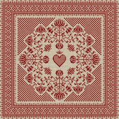 Floral heart pillow
