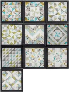 Sew New To Me Virtual Quilting Bee blocks