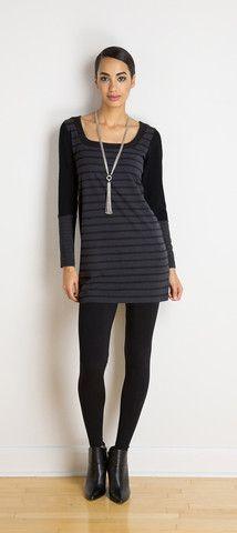 Trish reversible striped tunic