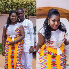 Kente Fabric Designs: See These Kente Styles For Fashionable Ladies - Lab Africa African Wear Dresses, African Fashion Ankara, African Inspired Fashion, Latest African Fashion Dresses, African Print Fashion, African Clothes, African Outfits, African Wedding Attire, African Attire