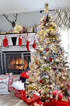 Ideas para Decoracion de Pinos de Navidad Nevados