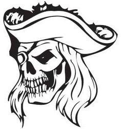 High Quality Pirate T-shirt cotton White Large