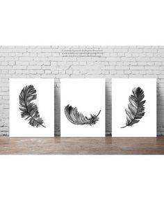 Feather Illustration, set of 3 Feathers Art Print Black Home Decor, Gray White Minimalist Poster Gifts for Him Living Room Bedroom Drawing - Feather illustration set of 3 feathers. Abstract Feather Art Print Gray Home Decor. Minimalist Poster, Minimalist Art, Watercolor Paintings, Original Paintings, Grey Home Decor, Black Decor, Bedroom Drawing, Feather Illustration, Modern Drawing