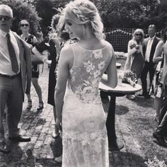Congratulations to gorgeous real bride Sarah who looked stunning in the Claire Pettibone Romantique 'Gardenia' wedding dress fro Blackburn Bridal Couture http://www.clairepettibone.com/romantique/gardenia