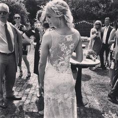 Congratulations to gorgeous real bride Sarah who looked stunning in the Claire Pettibone Romantique 'Gardenia' wedding dress fro Blackburn Bridal Couture http://www.clairepettibone.com/romantique/gardenia