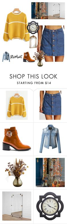 """""""ROMWE"""" by dzenisa44 ❤ liked on Polyvore featuring Jeffrey Campbell, LE3NO, Improvements, Kelly Wearstler and Somette"""