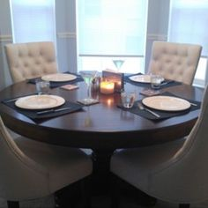 Fallon 5-pc. Dining Set - Ivory / Cherry | Raymour & Flanigan
