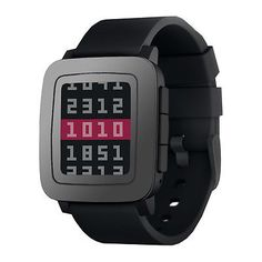 Pebble Time Bluetooth Wireless Activity Tracker Android & iOS Smartwatch - Black