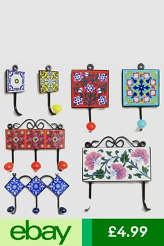 Tile Art, Mosaic Art, Azulejos Diy, Diy Wall Hooks, Do It Yourself Organization, Tile Crafts, Ceramic Birds, Christmas Images, Diy Projects To Try