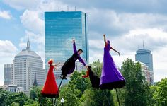 1. This shot from Outside the Box is incredibly whimsical. Outside the Box is an arts festival held in Boston. The celebration features shining examples of the best music, dance, theater, and culinary arts in the state.
