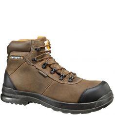 CMH6317 Carhartt Men's Stomp Light Bal WP EH Safety Boots - Chocolate www.bootbay.com