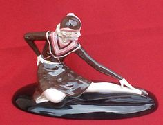 Rare Art Deco Lorenzl Goldscheider Wein Female FLAPPER Circa 1931