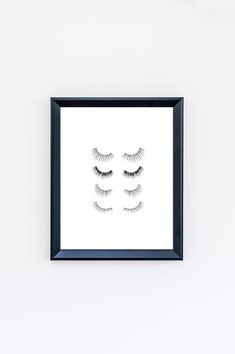 Eyelashes Print  Makeup Print  Beauty Print by CreativeTypeDesigns  I could so recreate something like this