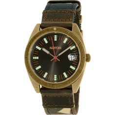 Nixon Men's Rover A3551661 Brown Leather Quartz Watch