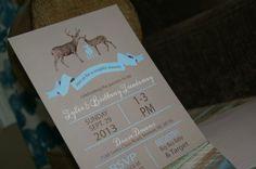 Deer Shower Invitations, Baby or Bridal, lot of 25