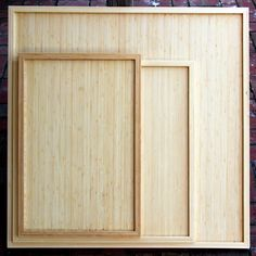 Bamboo Jigsaw Puzzle Tray handcrafted in the USA with eco-friendly, natural bamboo, featuring gorgeous joinery, no nails or screws whatsoever, and a water-based, satin, clear finish to preserve the beautiful grain and coloring of the bamboo. By Zen Art & Design.