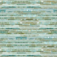 New Ravenna Mosaics - random stalks glass tile in aquamarine
