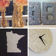 Glitter home decor! #crafts #DIY #sparkles #glitter #robertscrafts