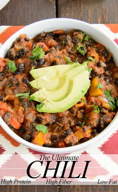 The Ultimate Chili - healthy, low fat, and only 8 ingredients! Seriously, this was so good!