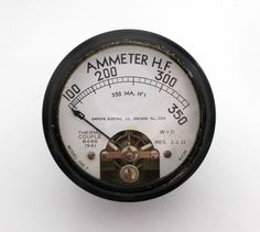 Simpson Model 135T Radio Frquency RF Thermocouple Type Ammeter Meter 1941 Price Of Stamps, Wood Nursery, Electric Co, Radio Frequency, Previous Life, Ham Radio, Electronics Projects, Bold Prints, I Shop