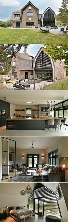 Modern villa This characteristic, modern villa with a thatched roof is . Build Your Own House, Thatched Roof, Luxury Homes Interior, Trendy Home, Inspired Homes, Home Fashion, Villas, Architecture Design, Architecture Definition
