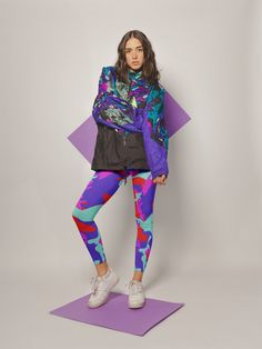 9537fa7c53c87 Colorful Camo Leggings | Camouflage Leggings | Psychedelic Leggings | Army  Leggings | Workout Leggings | Festival Leggings | Yoga Pants