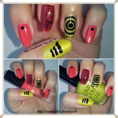 Unghiutze colorate-Happy nails: Alphabet nail art challenge - Letter A