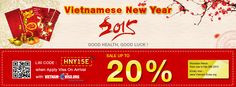 Special Promotion for Vietnamese New Year to get Vietnam Visa On Arrival with code: HNY15E from Vietnam-Evisa.Org