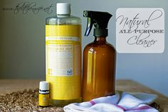Going Chemical Free?  Try this Natural All Purpose Cleaner with Dr. Bronner's and essential oils.  It is AMAZING!  www.thekitchenwife.net