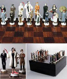 good vs evil chess set