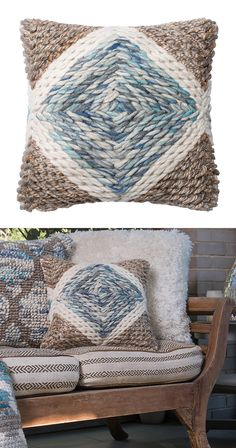 Subtly beachy, this Kody Throw Pillow brings all the right colors to the table, making it perfect for your casual-coastal theme. The bold, textured weave showcases a gentle blue diamond surrounded by w... Find the Kody Throw Pillow, as seen in the The Bohemian Minimalist Collection at http://dotandbo.com/collections/the-bohemian-minimalist?utm_source=pinterest&utm_medium=organic&db_sku=116122
