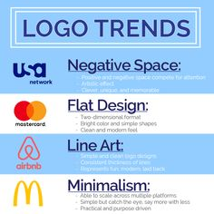 Last year's popular logos had letter stacking, pattern and repetition, and geometric shapes. However, simplicity dominated the game... and it still does! This year will be all about stripping your design to the basics and making it as clean and minimalist as possible.  It's difficult to know which trends are worth following and which trends will date your logo after a few years. What is most important, it that good logo design needs to communicate your brands key attributes and be authentic.