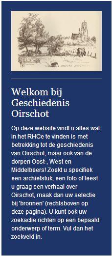 Satelliet met alles over Oirschot maar ook Oost-, West en Middelbeers, ga naar: http://www.geschiedenisoirschot.nl/