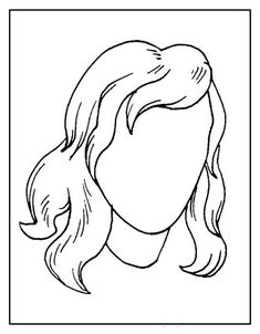 People Coloring Pages, Coloring Books, Face Stencils, Activity Sheets For Kids, Face Template, Hair Sketch, Body Drawing, Arte Pop, Preschool Art