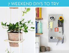Before you head out for the long weekend, check out these 7 DIYs, fitting for the casual crafter up to the weekend warrior.