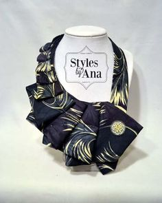 NEW Feather Fabric Necktie Necklace Unique Clothing by stylesbyana, $29.99