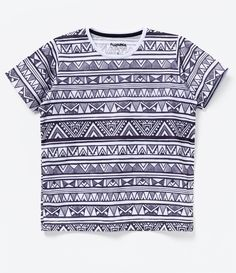 Camiseta Infantil Estampa Tribal - Tam 4 a 14 - Lojas Renner d5957bd7bf727