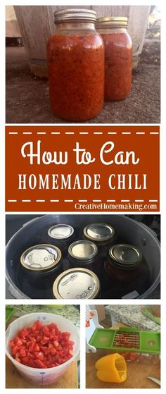 Tomato Gardening For Beginners Recipe for canning homemade chili. - Canning chili with a pressure canner. Recipe and instructions for canning homemade chili. Pressure Canning Recipes, Home Canning Recipes, Canning Tips, Cooking Recipes, Cooking Chili, Tomato Canning Recipes, Easy Canning, Cooking Steak, Cooking Hacks
