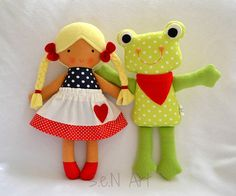 #Handmade #Fabric #Frog With #Scarf #Stuffed #Toy Frog #Plushie #soft available in my #etsy shop