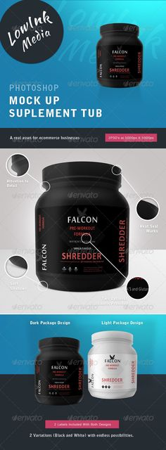 Supplement Tub Mock up — Photoshop PSD #sport #package • Available here → https://graphicriver.net/item/supplement-tub-mock-up/4575034?ref=pxcr