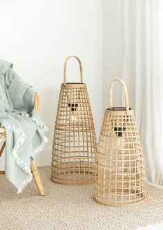 Lantern Set, Nature Decor, Outdoor Lounge, Rattan, Accent Decor, Pendant Lighting, Weaving, Bulb, Led