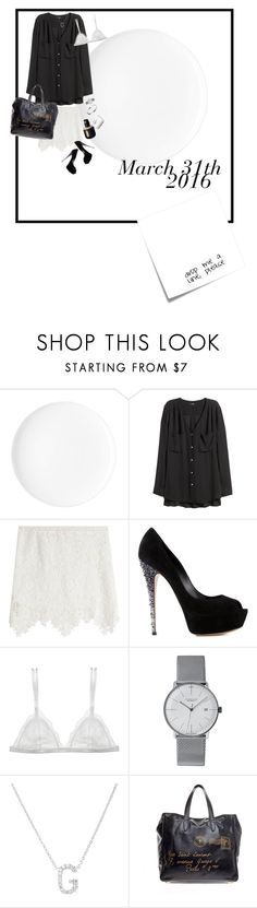 """""""20160331"""" by kakarichoh on Polyvore featuring ファッション, H&M, See by Chloé, Casadei, Curriculum Vitae, Junghans, Plukka, Yves Saint Laurent, Cartier と Post-It"""